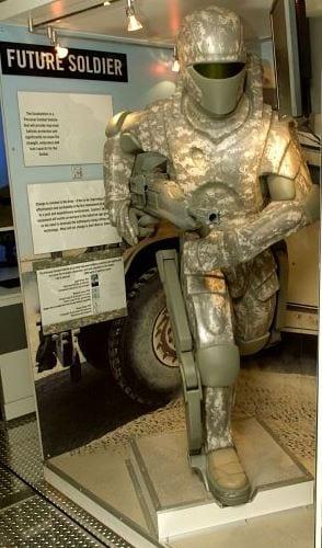 Super Soldier futuristic Sci Fi suit