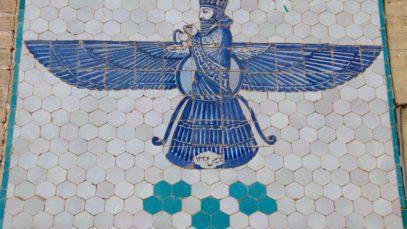 Symbol of the Zoroastrian faith. Zarathustra with wings