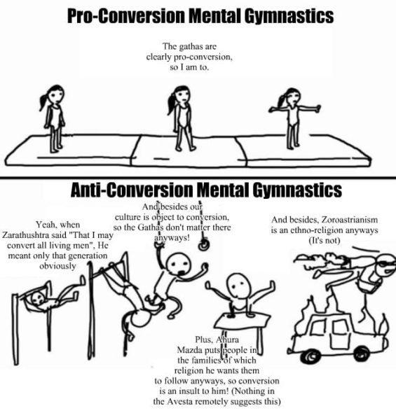 Zoroastrianism Conversion meme