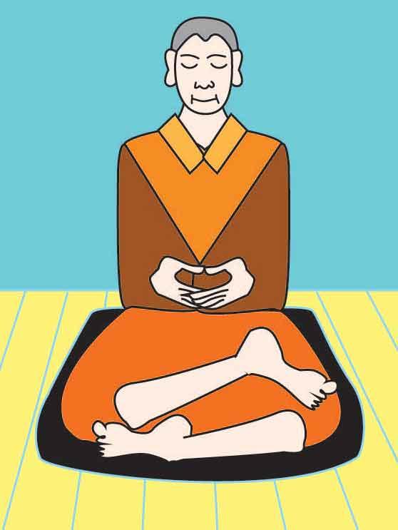 half lotus zazen meditation posture