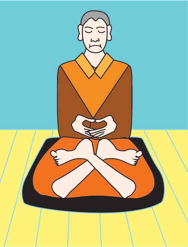 Full lotus zazen meditation posture