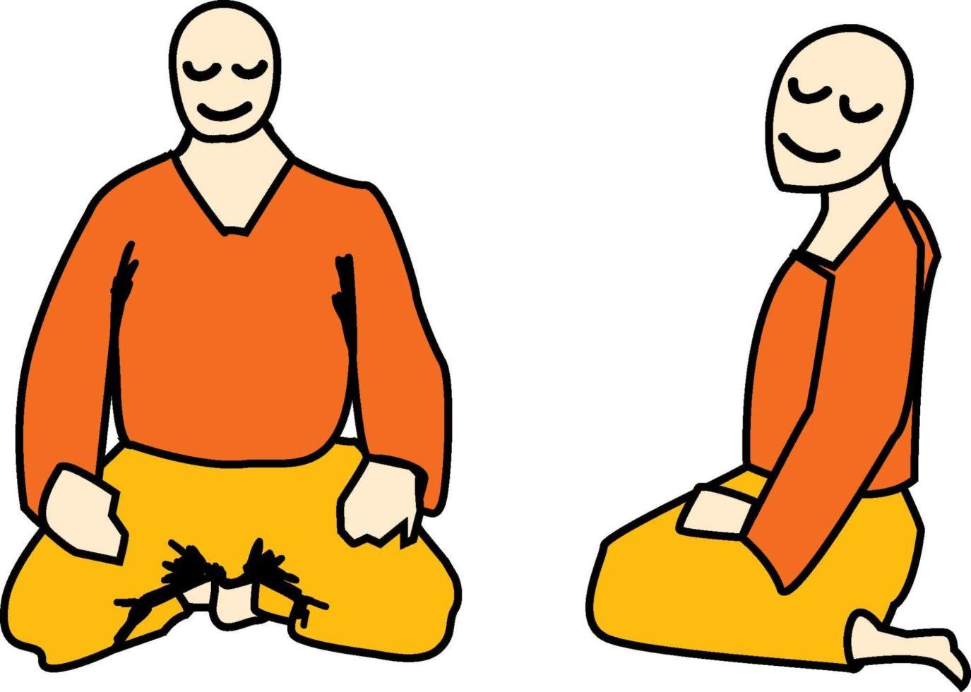 zazen meditation posture: Seiza