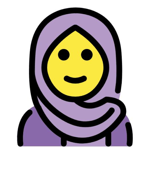 spiritual art islamic emoji with a hijab