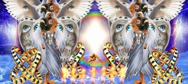 Image of all the angels in the hierarchy of angels