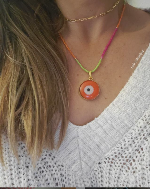 Evil Eye in Orange